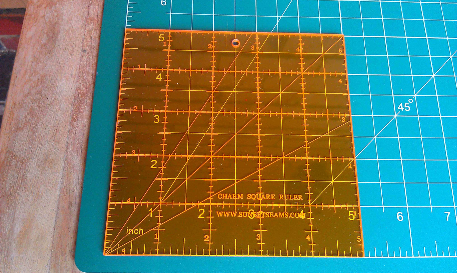 Choice of Size Acrylic Square Quilt Template 9